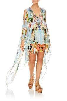 Camilla The Still Abyss Long Sheer Overlay Dress