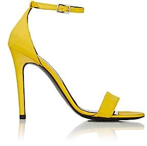 Barneys New York Women's Satin Ankle-Strap Sandals-Yellow