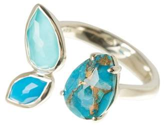Ippolita Rock Candy Sterling Silver Cluster Stone Open Ring - Size 7