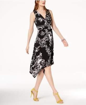 INC International Concepts I.N.C. Faux-Wrap Handkerchief-Hem Dress, Created for Macy's
