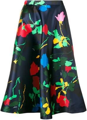 MSGM floral print midi skirt