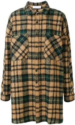 Faith Connexion checked shirt-style coat