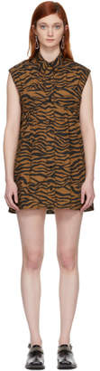 Ashley Williams Brown and Black Tiger Ray Dress