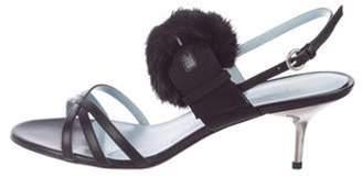 Frances Valentine Lisette Mink Sandals Black Frances Valentine Lisette Mink Sandals