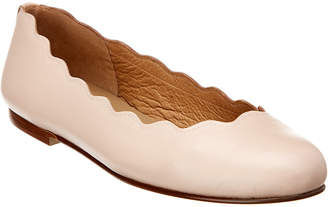 French Sole Teardrop Leather Flat