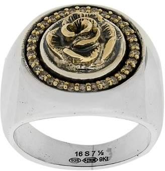 Ugo Cacciatori rose detail ring