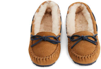 Vineyard Vines Womens Natural Suede Slippers