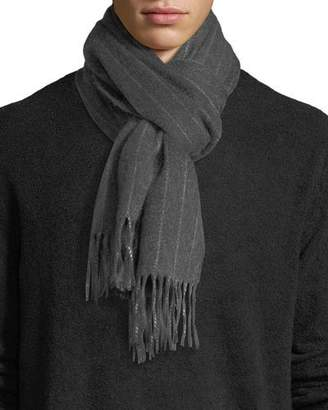 Neiman Marcus Cashmere Pinstriped Scarf