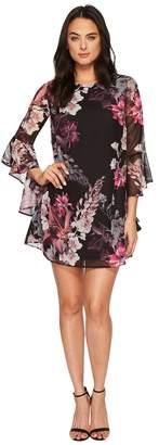 CeCe Ashley Bell Sleeve Blooms Dress Women's Dress