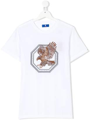 Stefano Ricci Kids TEEN eagle embroidered T-shirt