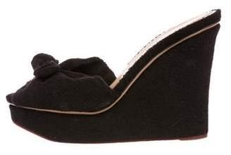 Charlotte Olympia Peep-Toe Wedge Sandals