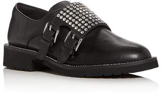 Kurt Geiger Women's Seth Embellished Double Monk-Strap Loafers