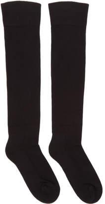 Rick Owens Black Knee-High Larry Socks