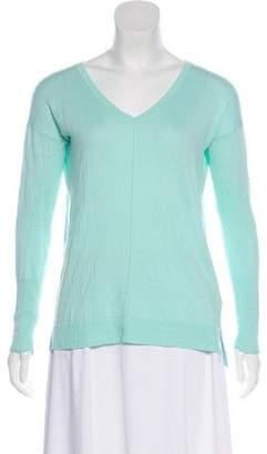 White + Warren V-Neck Sumer Sweater