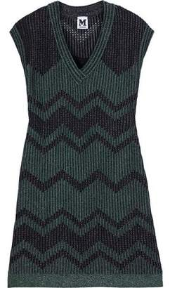 M Missoni Metallic Pointelle-Knit Mini Dress
