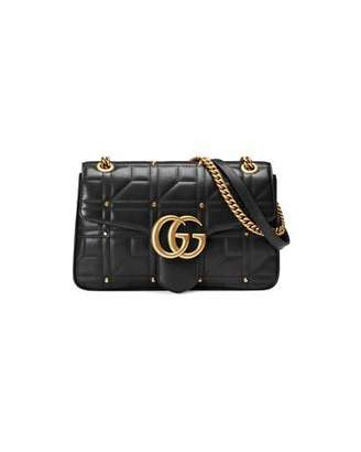 Gucci GG Marmont 2.0 Medium Quilted Shoulder Bag, White $2,450 thestylecure.com
