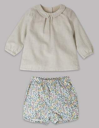 Marks and Spencer 2 Piece Woven Top & Shorts Outfit