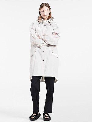 Calvin KleinCalvin Klein Womens Platinum Lightweight Memory Hooded Trench Jacket New Sand