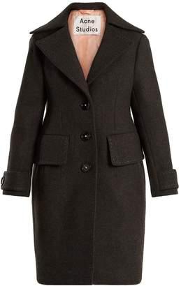 Acne Studios Cherl T Melton single-breasted wool coat