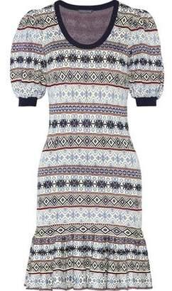 Alexander McQueen Fair Isle Jacquard-Knit Silk-Blend Mini Dress