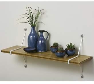 Aderet Single Bamboo Shelf with Diagonal Brackets