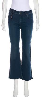 Burberry Mid-Rise Wide-Leg Jeans