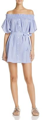 Faithfull the Brand Deia Off-the-Shoulder Dress $139 thestylecure.com