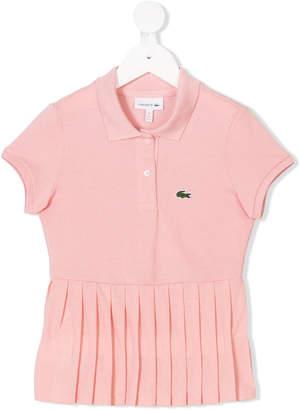 Lacoste Kids pleated polo shirt
