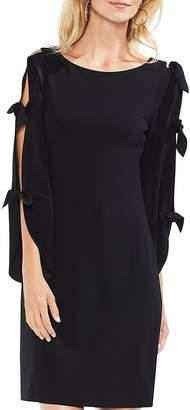 Vince Camuto Split Tie Sleeve Crepe Dress