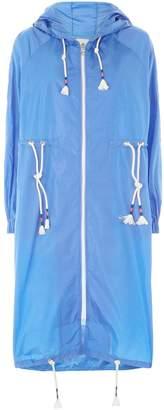Mira Mikati Transparent Hooded Raincoat