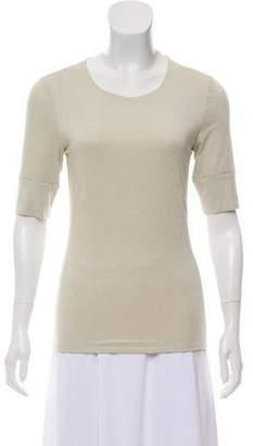 Yansi Fugel Short Sleeve Opalescent Viscose Jersey Top w/ Tags