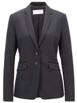 BOSS Hugo Regular-fit blazer in Italian stretch virgin wool 2 Patterned