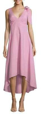 Bow Striped Maxi Dress