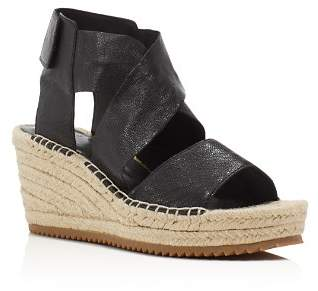Eileen Fisher Willow Espadrille Platform Wedge Sandals
