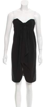 Vena Cava Strapless Wool Dress