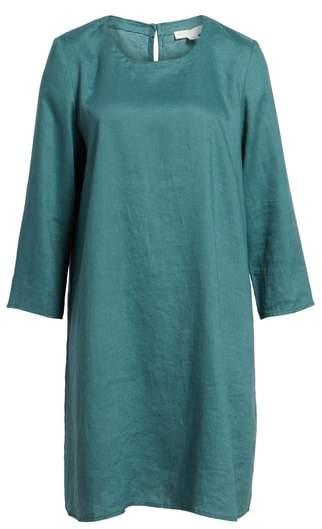 Organic Linen Round Neck Shift Dress