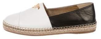 Prada Colorblock Leather Espadrilles