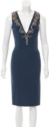 Amen Embellished Midi Dress w/ Tags
