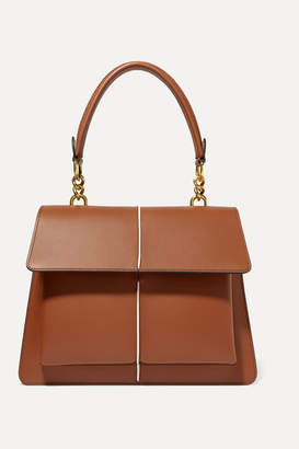 Marni Attache Large Leather Shoulder Bag - Brown