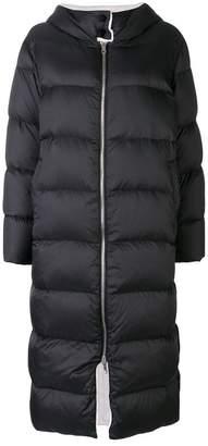 Yves Salomon long reversible down jacket