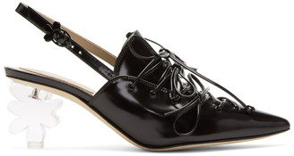 Simone Rocha Black Low Flower Heels