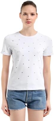 Slim Fit Embellished Jersey T-Shirt