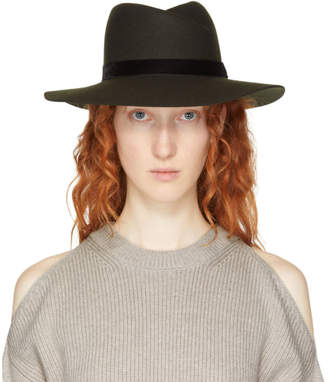 Rag & Bone Green Zoe Fedora