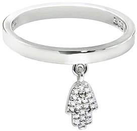 Silvertone Hamsa Charm Ring