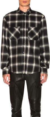 Amiri Glitter Plaid Shirt