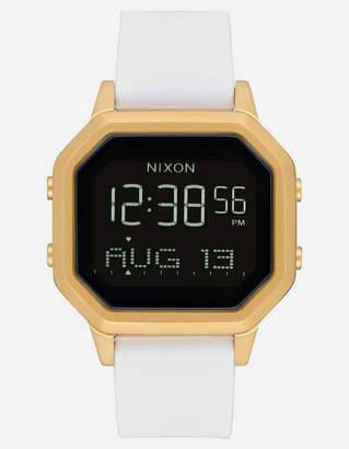 Nixon Siren SS Gold & White Watch