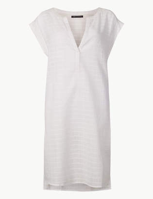 Marks and Spencer Pure Cotton Short Sleeve Shift Dress