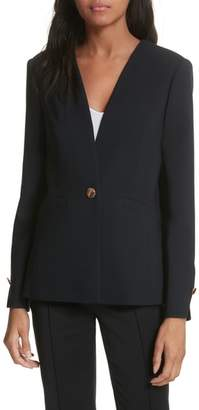 Ted Baker Collarless Stretch Wool Jacket