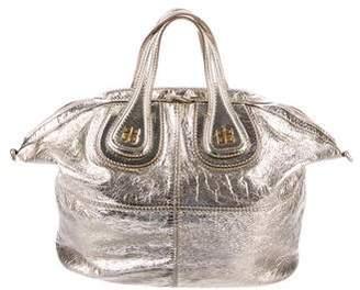 Givenchy Metallic Distressed Leather Antigona Satchel