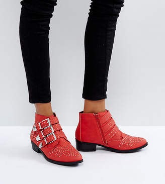 Missguided Studded Strap Western Ankle Boot